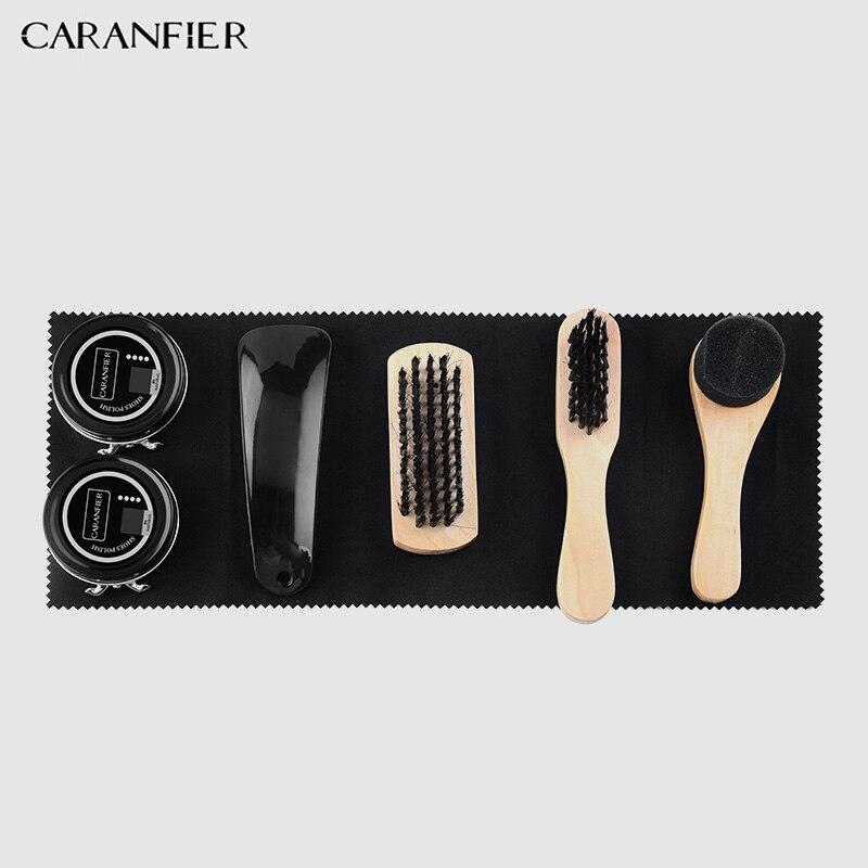 CARANFIER 7X zapatos brillo cuidado Kit de pulido herramienta transparente polaco cepillo conjunto para chaquetas de cuero zapatillas Botas limpiador