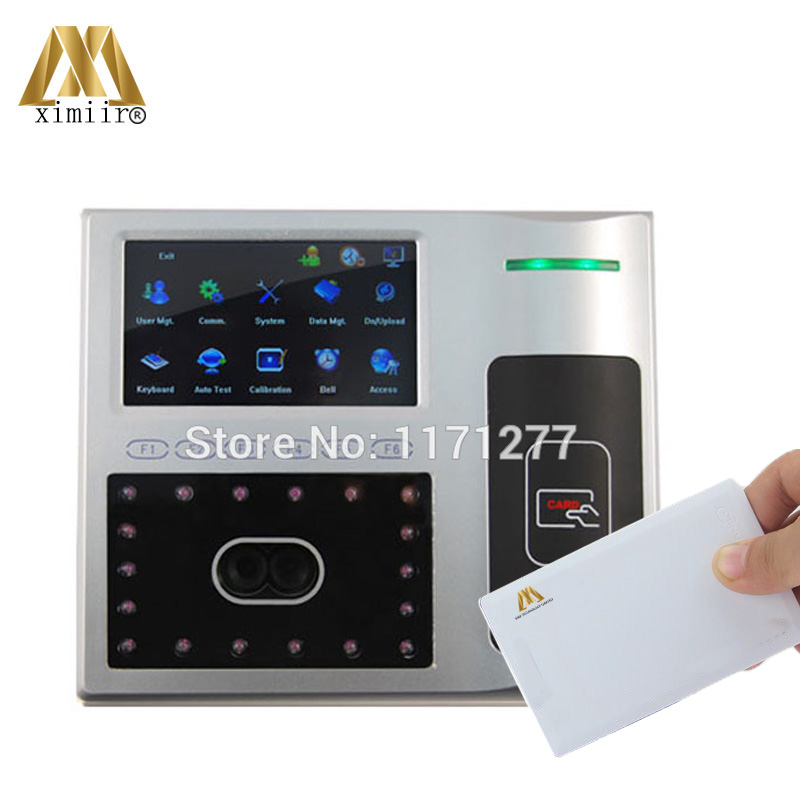 Iface801 13.56MHz Card Face Door Access Control Time Attendance Machine TCP/IP Optical Face Sensor 4.3 TFT Touch Screen