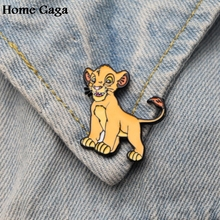 Homegaga Lion king DIY Zinc tie cartoon Funny Pins backpack clothes brooches for men women hat decoration badges medals D1593