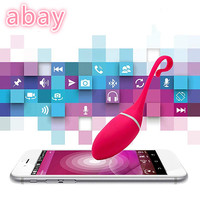 abay Wireless APP Remote Control Vibrator Eggs Vibrating Clitoral Stimulation Massager USB Charge Adult Game Sex Toys For Women