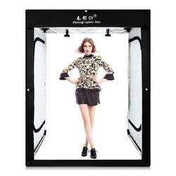 8* LED strips +200x120x100CM Photo Studio Softbox Shooting Light Tent Soft Box for model body portrait apparel photo shooting