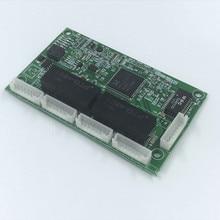 OEM PBC 4 Port Gigabit Ethernet Switch with pin way header 10/100/1000m Hub power Pcb board screw hole PCBA