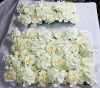 2016 High Quality 10pcs Lot Wedding Flower Wall Stage Or Backdrop Decorative Wholesale Artificial Flower Table