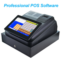 10inch Touch Screen Cash Register With Printer Cash Drawer and Professional Software
