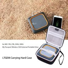 LTGEM EVA Hard Case for WD 1TB 2TB 250G 500G My Passport Wireless SSD External Portable Drive - Travel Protective Carrying Case