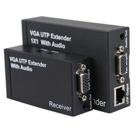 2016 Dual Video VGA UTP 1x1 Splitter Extender With Audio Up Cat5 6 To 300M VGA