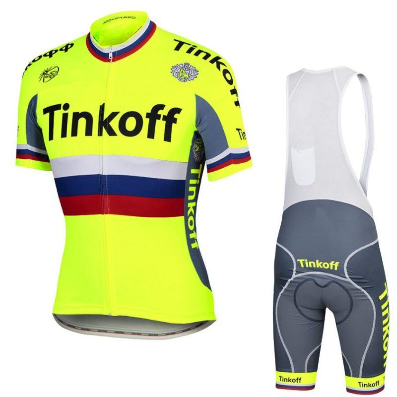 ФОТО 2016 pro team tinkoff saxo bank Russian champion Cycling jerseys quick-dry cloth MTB Ropa Ciclismo Bicycle maillot GEL PAD