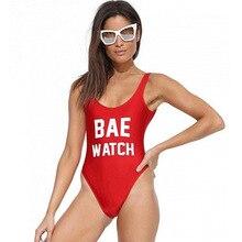 2016 Sexy BAE WATCH Women Bathing Suit One Piece Swimsuit Bodysuit font b Swim b font