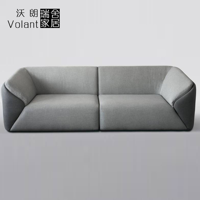 Swiss house household leather leather office sofa fabric simple ...