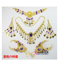 hot deal buy belly dance accessories indian jewelry accessories beautiful oriental dance accessories necklace belly accessory set 6pcs