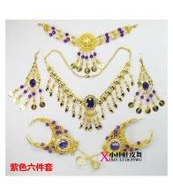 Aksesori Tarian Belly Aksesori India Perhiasan Aksesori Tarian Oriental yang Indah Aksesori Kalung Belly Set 6pcs
