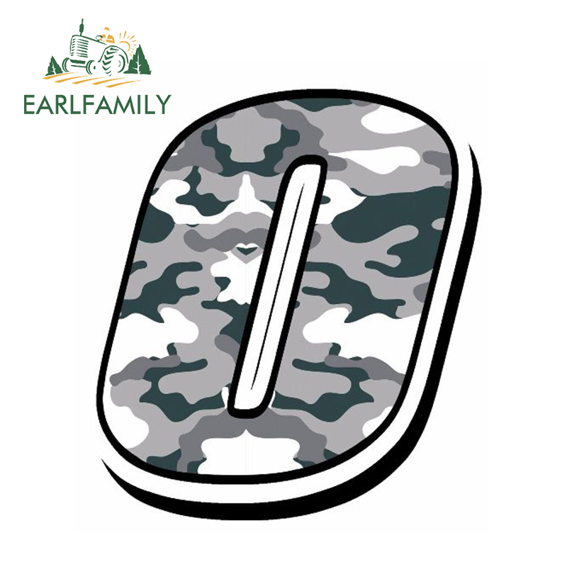 EARLFAMILY 13cm x 10cm Car Styling Racing Numbers Vinyl <font><b>CAMOUFLAGE</b></font> GRAY <font><b>Stickers</b></font> Motocross Car Decal Moto Auto ATV <font><b>BIKE</b></font> Decor image