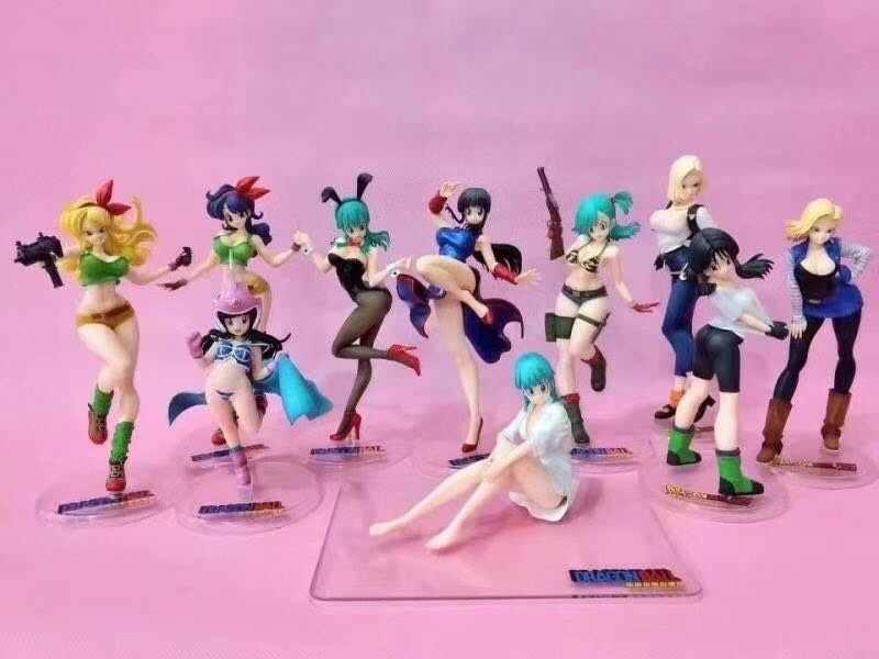 Bulma Чичи обед Искусственный Человек 18 Dragon Ball японские статуэтки аниме фигура, Двигающаяся Игрушка коллекция моделей pvc для подарка на день рождения
