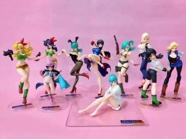 Bulma Chichi Lunch Artificial Person 18 Dragon Ball Japanese Anime Figures Action Toy Pvc Model Collection