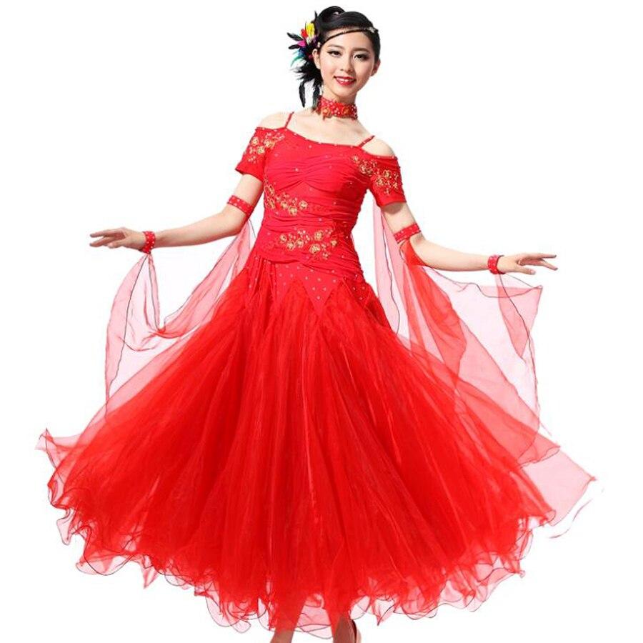 2018 New Ballroom Dance Dress 10color Ballroom Dancing S XXXL Flamenco  Dance Costumes Luxury Vestidos De Festas Free Shipping In Ballroom From  Novelty ...