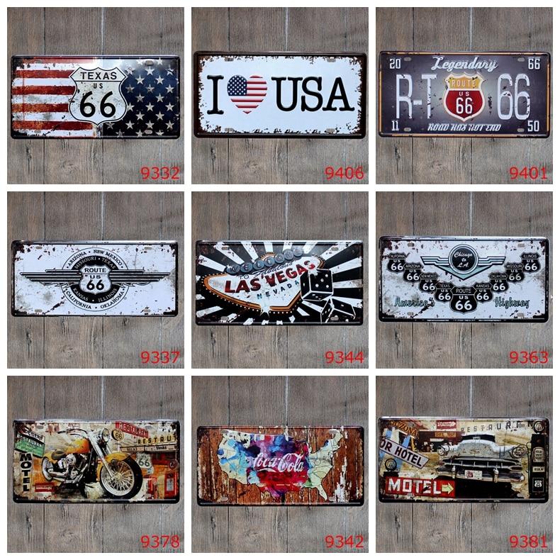Смешивать элементы ретро США Номерные знаки для мотоциклов Предупреждение знаки Pratice здесь металлический знак паб дома хостел Декор таблич...