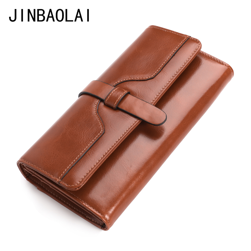 Women's Genuine Leather Wallet Fashhion Long Wallet Women Ladies Clutch bag  Purse Credit Card Holder Phone Purses carteira