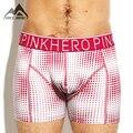 Pink hero nueva impresión de punto de algodón hombres ropa interior hombre boxer shorts sexy strech cintura suave p1255 envío gratis