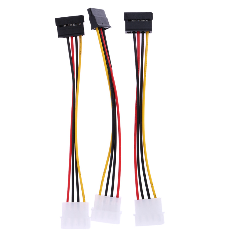 3pcs  IDE to Serial ATA SATA Hard Drive Power Adapter Cable IDE to SATA Power Cable extenders wholesale