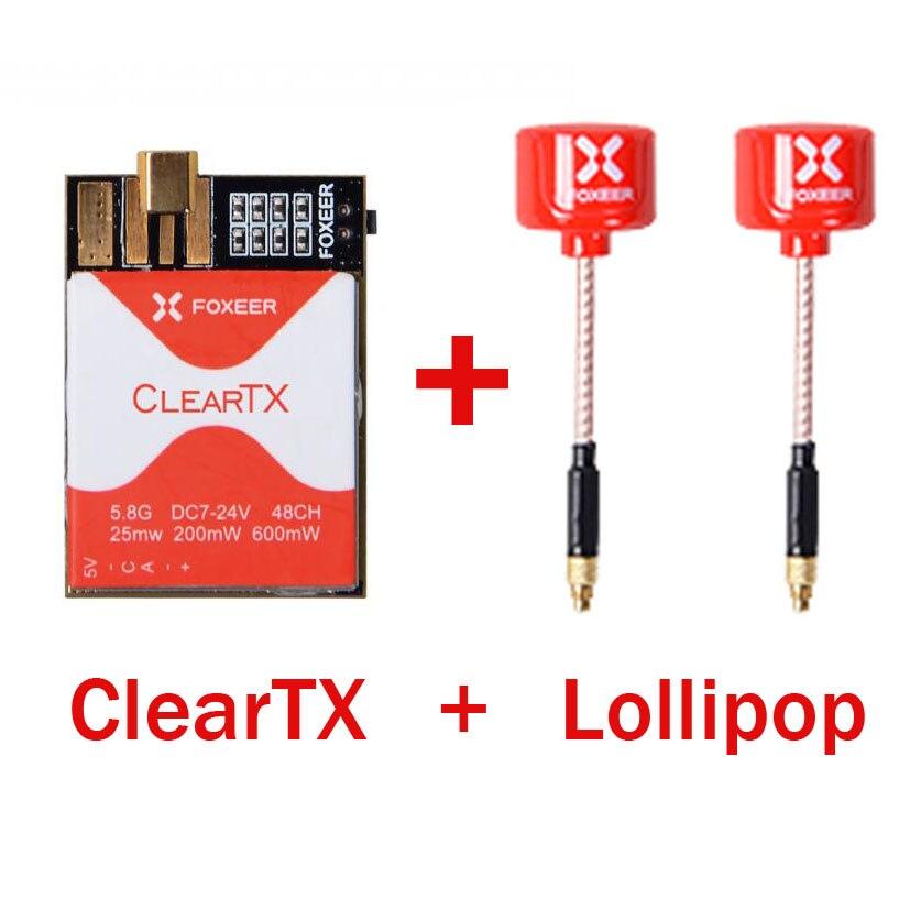 FOXEER ClearTX 5.8G 48CH 25/200/600 MW commutabile TX Trasmettitore con il Lollipop MMCX Antenna/Pagoda PRO Antenna per FPV RC Fatto