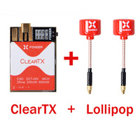FOXEER ClearTX 5.8G 48CH 25/200/600MW switchable TX Transmitter with Lollipop MMCX Antenna / Pagoda PRO Antenna for FPV RC Done