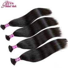 2016 Gluna Company Mixed Length Hair Bulk Virgin Indian Straight Hair Bulk Hair Products Straight Hair Braiding No Attachment