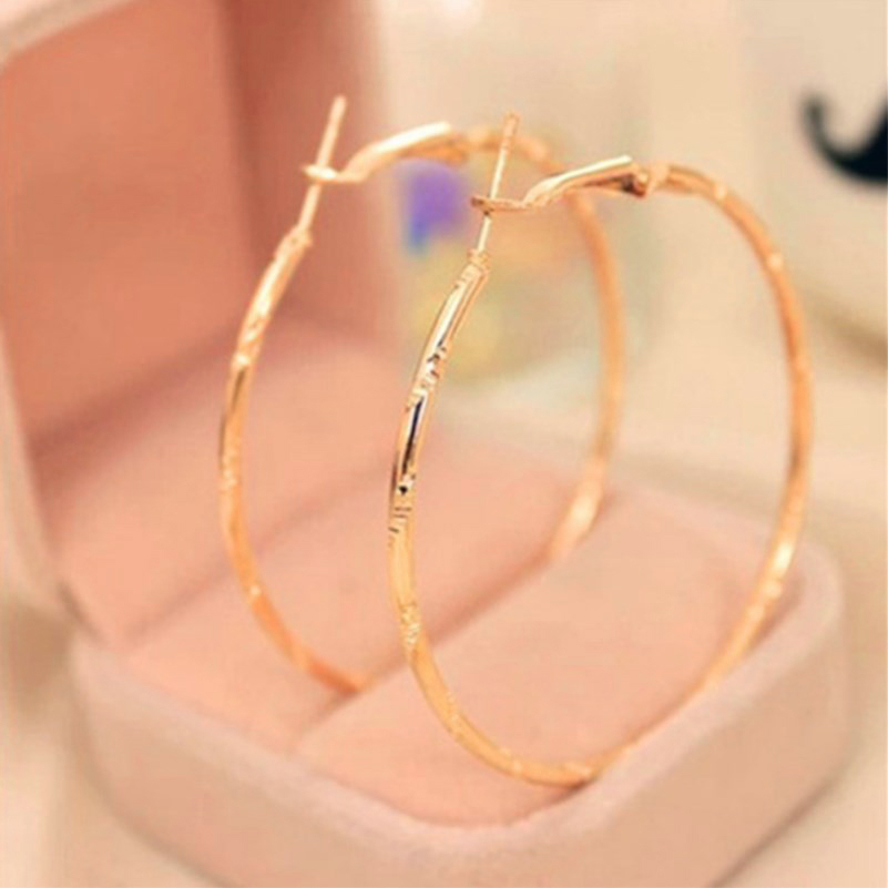 Creole Earrings Wholesale Statement Gold Color Jewelry For Woman Christmas Gifts Gold Circle Hoop Earrings Female Earrings e223