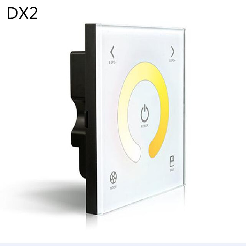 DX2 Sync Control Touch Panel Wall Mounted dual Color Temperature Adjustable CCT LED Controller 2.4G RF Wireless DMX512 Signal 2014new product 24w 2 4g rf touch remote control led ceiling panel 5630smd led lamp non polar dimming color temperature