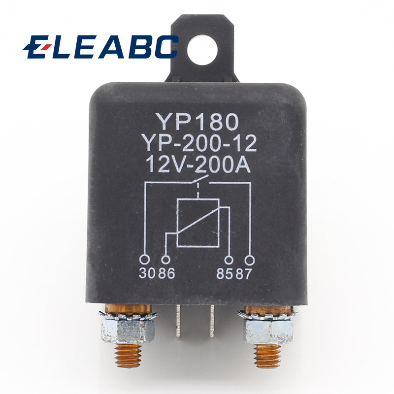1pcs High Power Car Relay 12V DC 200A Car Truck Motor Automotive Switch Car Relay Continuous Type Automotive Relay Car Relays dc12v 30a 4 pins electronic relay car automotive relay with insurance film car bike auto fused on off relays