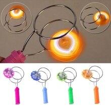 Магнитное колесо гироскопа волшебный спиннинг СВЕТОДИОДНЫЙ Красочный светильник подарки для детей гироскоп игрушки йойо