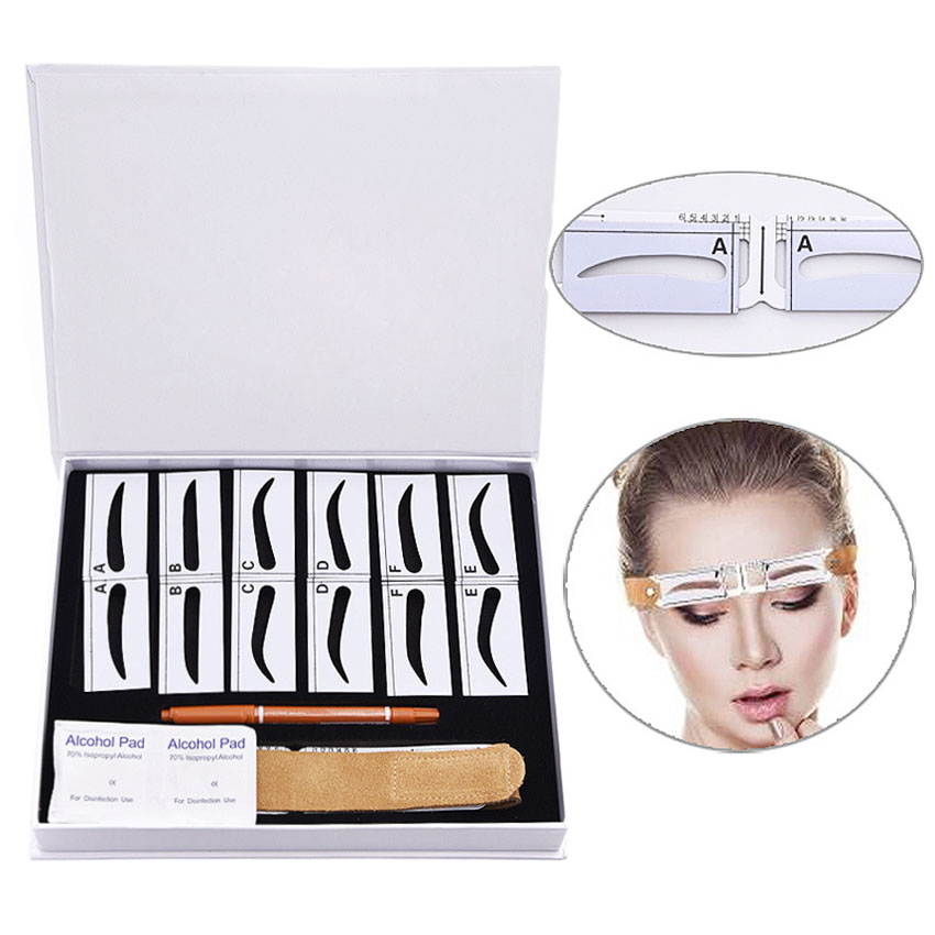 Eyebrow Card Pencil Ruler Kit Magnetism Eyebrow Permanent Makeup Microblading 3D Embroidery Shaping Beauty Tools Tattoo Supply gosh eyebrow pencil