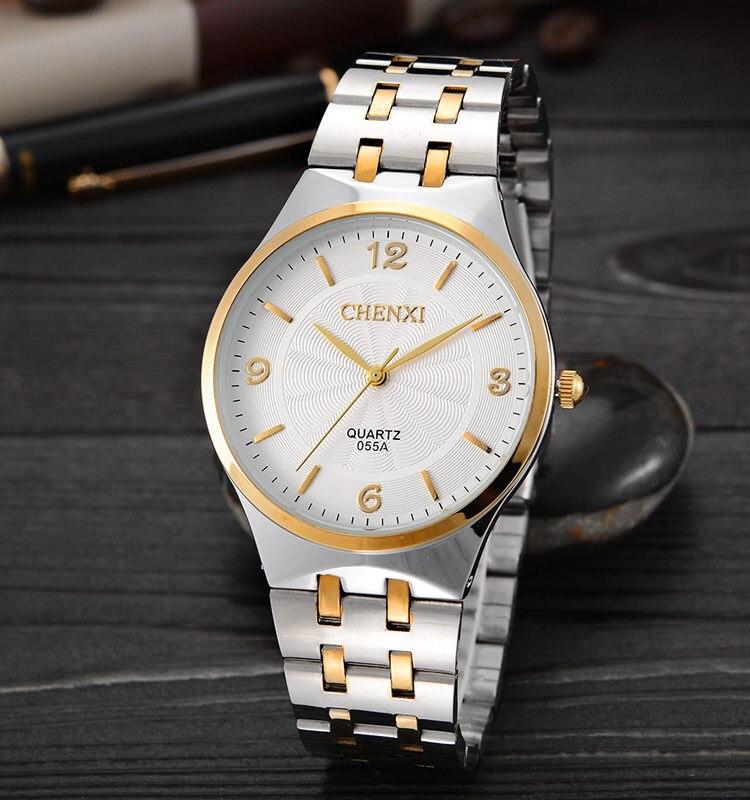 Fashion Chenxi 055a Brand Hot Golden Women Quartz Clock Female Rose Gold Steel Watch Ladies Casual Crystal Gift Wrist Watches