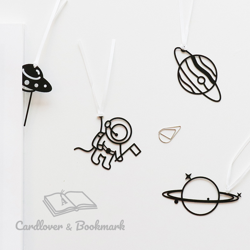 Labels, Indexes & Stamps Creative Mini Planet Ufo Astronaut Pattern Bookmarks With Ribbon Office Chancery Tab For Books School Stationery Fashion Gifts