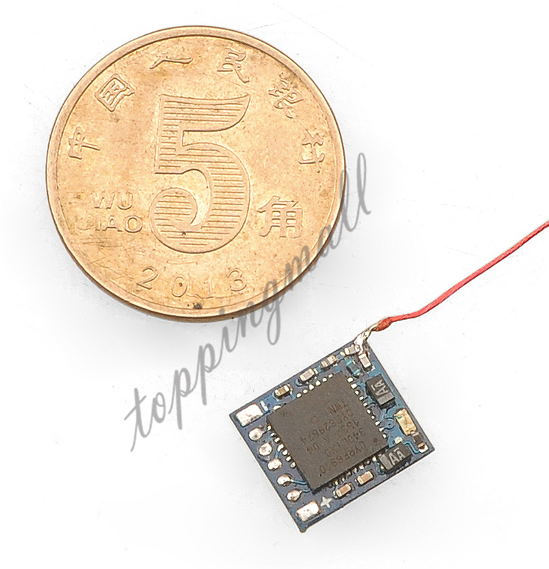 Micro 2.4G 5ch DSM2 Receiver with PPM Input for DIY Mini RC Brush/Brushless Racer Drone Indoor