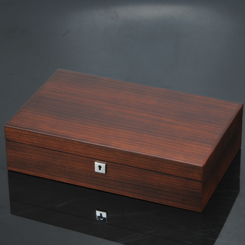 Image 3 - New 12 Slots Wooden Watch Organizer Luxury Watches Holder Case Wood Jewelry Gift Case Wooden Storage Boxes With Lock-in Watch Boxes from Watches