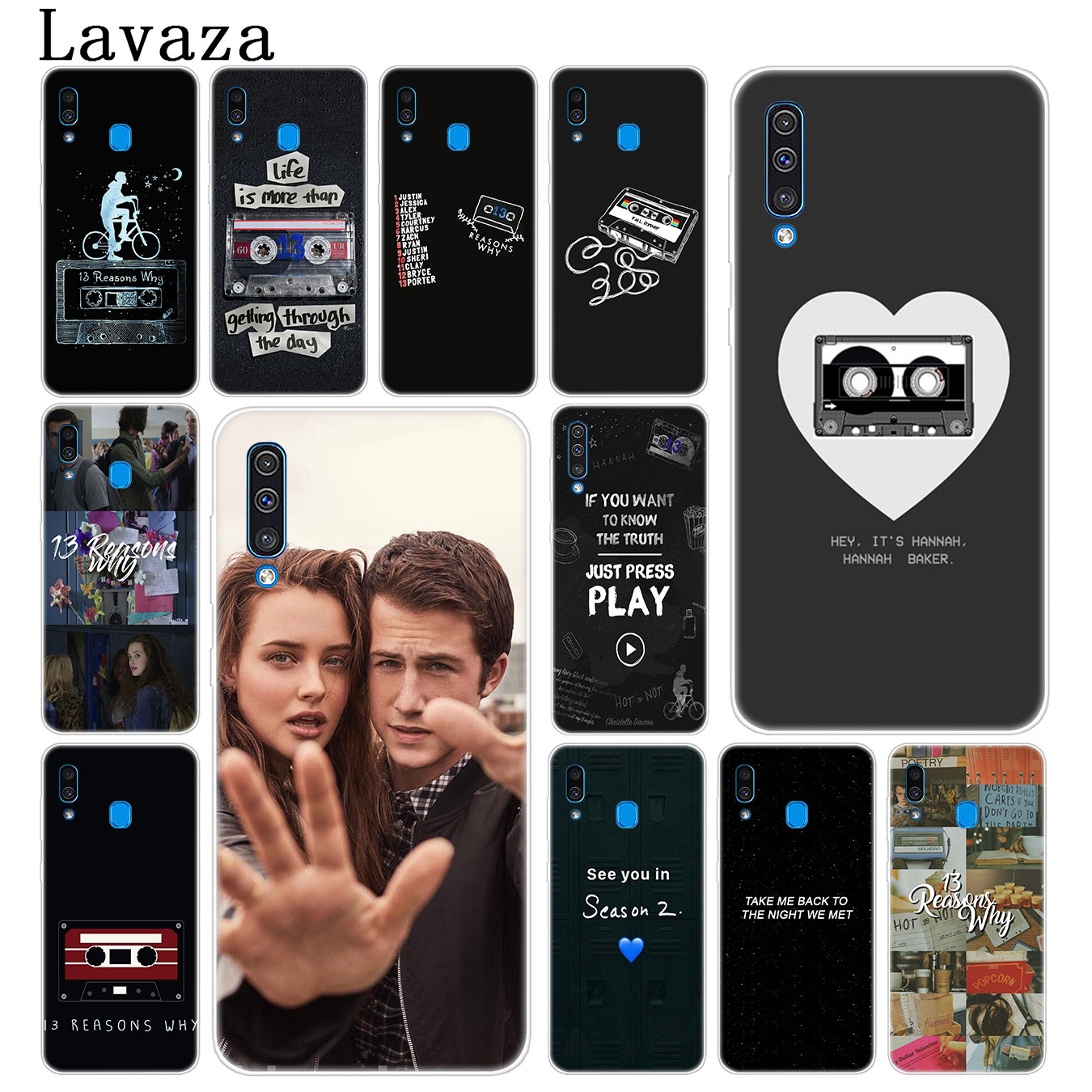 Lavaza <font><b>13</b></font> <font><b>reasons</b></font> <font><b>why</b></font> netflix Hard <font><b>Phone</b></font> <font><b>Case</b></font> for Samsung Galaxy A70 A60 A50 A40 A30 A20 A10 M10 M20 M30 M40 A20e Cover image