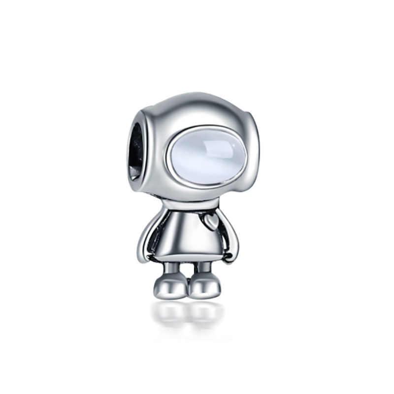 Fit Encantos Pandora Prata Plata de Ley 925 Original Pulseira de Miçangas para Fazer Jóias Dia Dos Namorados Mary Poppins Bijoux charme