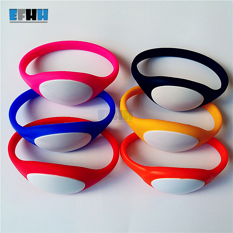 125Khz T5577/T5557/T5567 Rewritable RFID Bracelet Silicone Wristband Watch Copy Clone Blank Card In Access Control Card