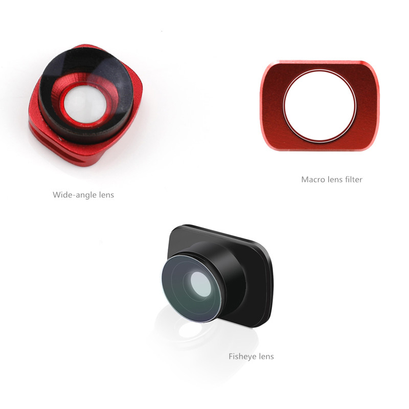 3 pcs/set Wide angle lens & fisheye filter & macro lens Magnetic adsorption mount for DJI osmo Pocket  camera Handheld gimbal-in Gimbal Accessories from Consumer Electronics    1