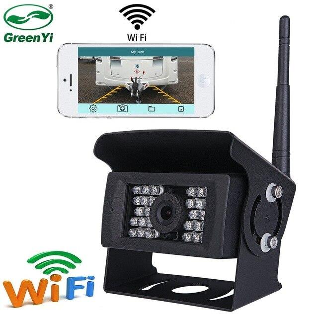 GreenYi kablosuz geri görüş kamerası kamyon, RV,Camper, römork. WiFi araç arka görüş kamerası çalışmak ile iphone veya android cihazlar