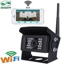 Greenyi câmera de backup sem fio para caminhão, rv, campista, reboque. Wifi veículo câmera de visão traseira trabalhar com iphone ou dispositivos andriod