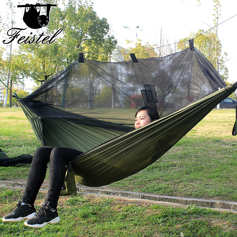 Mosquito net nylon hammock to protect you from mosquitoes while sleepingMosquito net nylon hammock to protect you from mosquitoes while sleeping