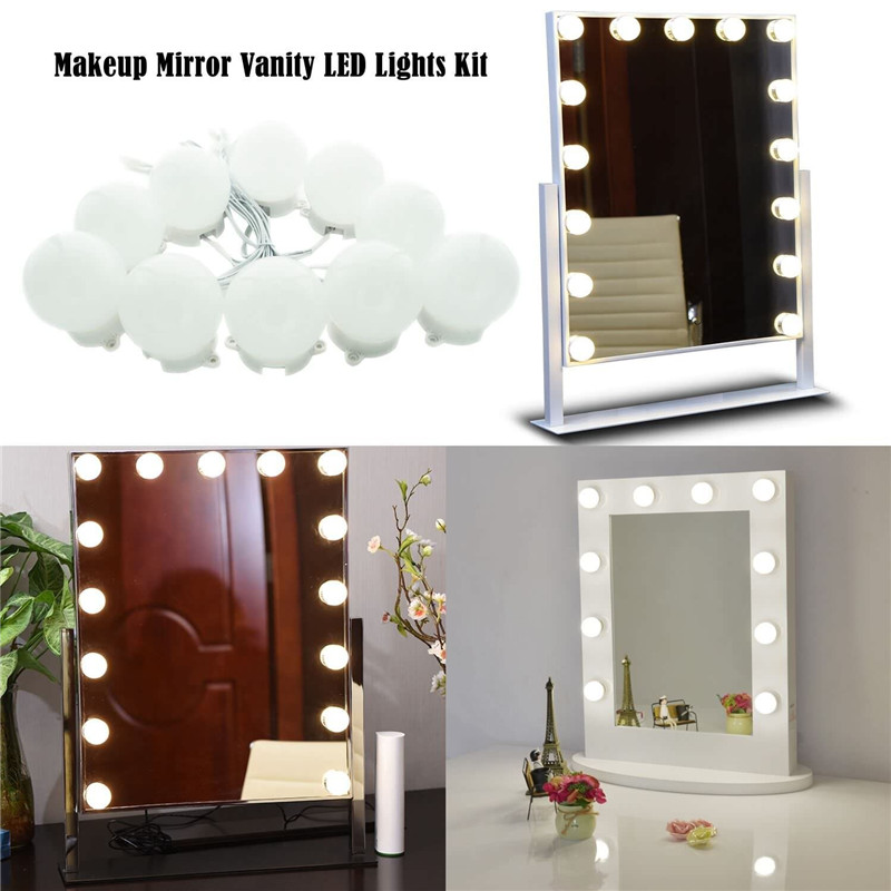 Makeup Mirror Vanity Led Light Bulbs Kit For Dressing Table With Dimmer And Supply Plug In Linkable Not Included Lighting Strings From