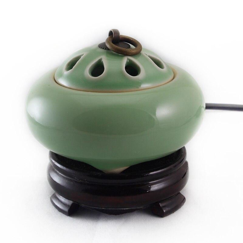 Longquan celadon classique antique bronze pull-ring bois encens parfum poudre encens thermostat 2 couleurs