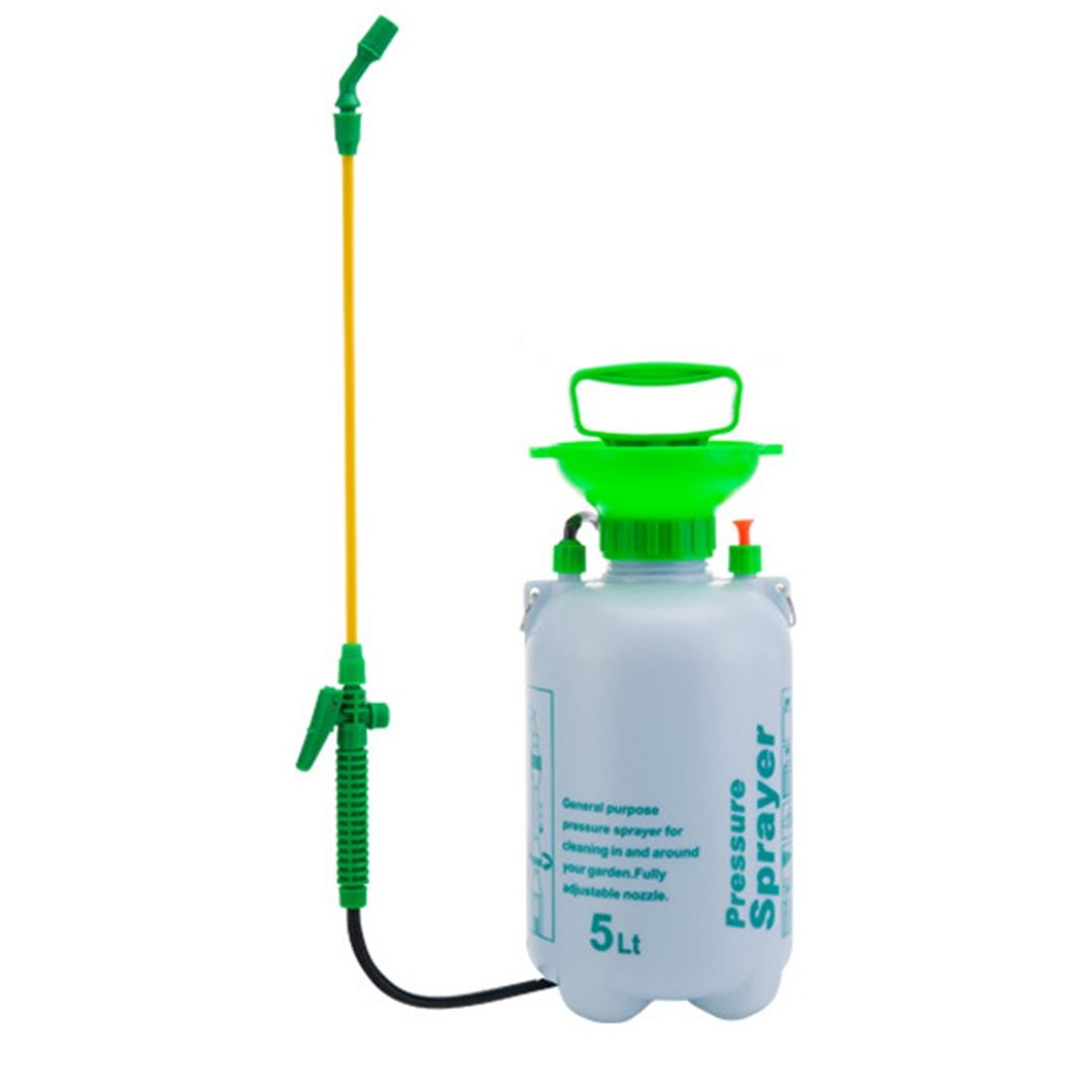 5L Plastic Agricultural Pesticide Spraying Sprayer Shouder Type Sprayer Garden Tool White + Green