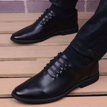 New Spring/Autumn Men Leather Shoes Fashion Lace Up Dress Shoes High Quality Black Business Men's Shoes Casual Oxfords For Men new leather shoes men casual high quality black dress shoes autumn winter fashion shoes for men zapatillas hombre plus size38 48