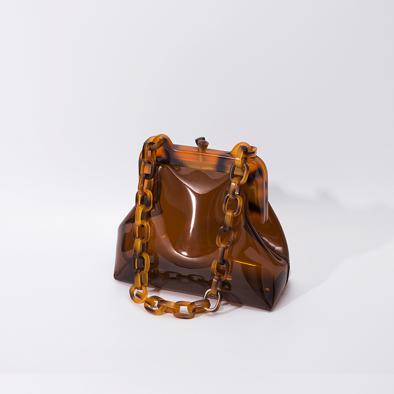 Japonais Original Design Transparent Sac dame vacances acrylique sangle chaîne Sac à bandoulière mignon femme petit fourre-tout Sac à bandoulière Sac - 2