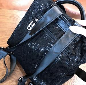 Image 2 - Siatkowa siatkowa opalizująca błyskotka plecak kobiety wysokiej jakości błyszcząca błyszcząca codzienna tornister kobieta kobieta Bagpack torba na ramię