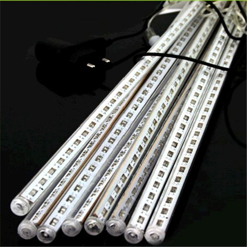 free shipping dhl 2years warranty led meteor tube falling star led christmas lights outdoor 30cm 8pcsset 5setslot lfs f3 30 in holiday lighting from