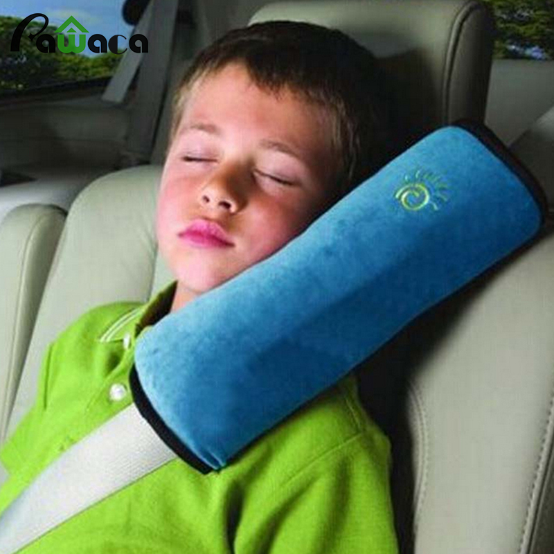 2017 New soft Sued Seat saft Shoulder strap/Cushion pillow for Car childrens kids adult sleeping tools Car seat sleeping holder